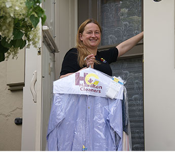 Free pickup and delivery service from Hamilton Cleaners
